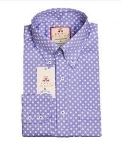 Purple Polka Long Sleeves Shirt