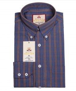 Foamy Blue Stripe Long Sleeves Shirt