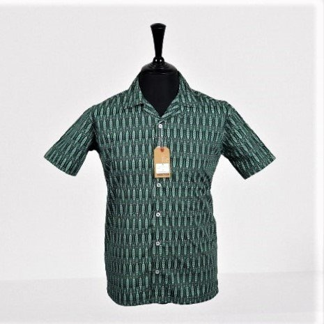 Forest Green Hawaiian Short Sleeves Shirt