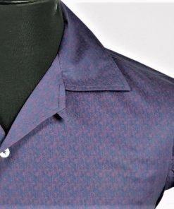 Argyle Violet Hawaiian Short Sleeves Shirt