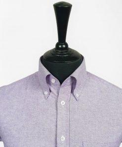 Purple Oxford Short Sleeves Shirt