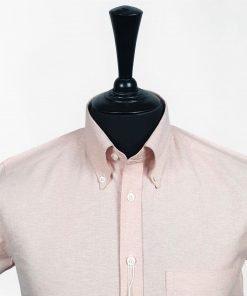 Orange Oxford Short Sleeves Shirt