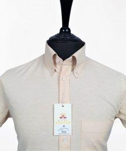 Beig Oxford Short Sleeves Shirt