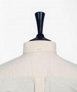 Beige Oxford Short Sleeves Shirt