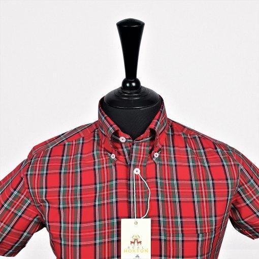 Tartan Red Check Short Sleeves Shirt