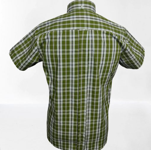 Olive Check Short Sleeve Shirt