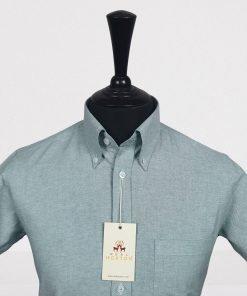 Mint Oxford Short Sleeves Shirt