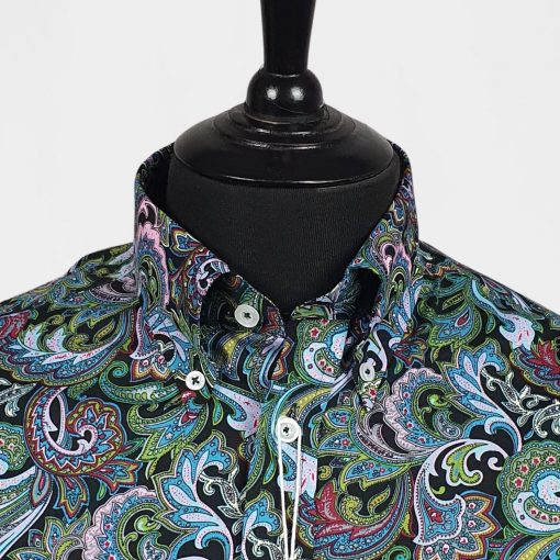 Green Paisley Long Sleeves Shirt