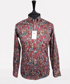 Red Paisley Long Sleeves Shirt