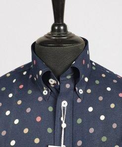Blue Multi Polka Long Sleeves Shirt