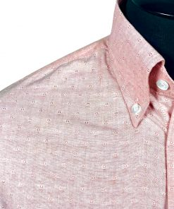 Jacquard Peach Oxford Long Sleeves Shirt