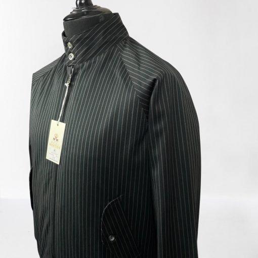 Black Pin Stripes Harrington