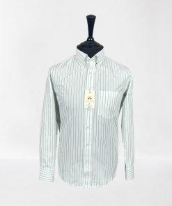Mod Stripes Green Long Sleeves Shirt