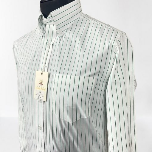 Mod Stripes Green Long Sleeves Shirt