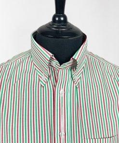 Thin Candy Stripes Long Sleeves Shirt