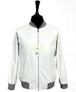 Jacqurard White Monkey Jacket
