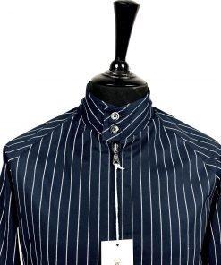 Navy Vintage Stripes Harrington