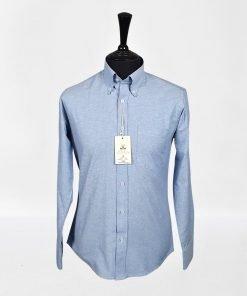 B;ue Oxford Long Sleeves Shirt