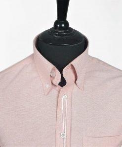 Orange Oxford Long Sleeves Shirt
