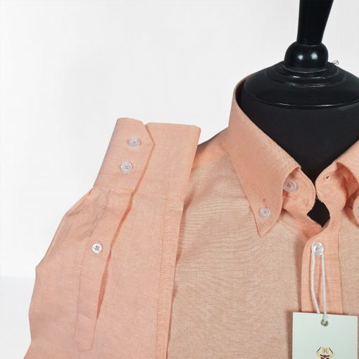 Peach Oxford Long Sleeves Shirt