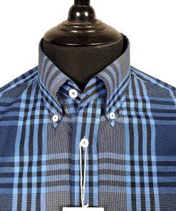 Midnight Blue Check Long Sleeves Shirt