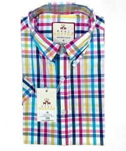 Women's Multi Candy Stripes Short Sleeves Shirt