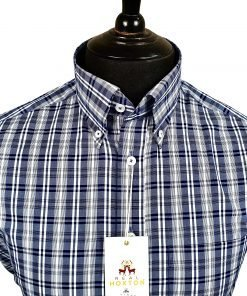 Classic Navy Check Short Sleeves Shirt
