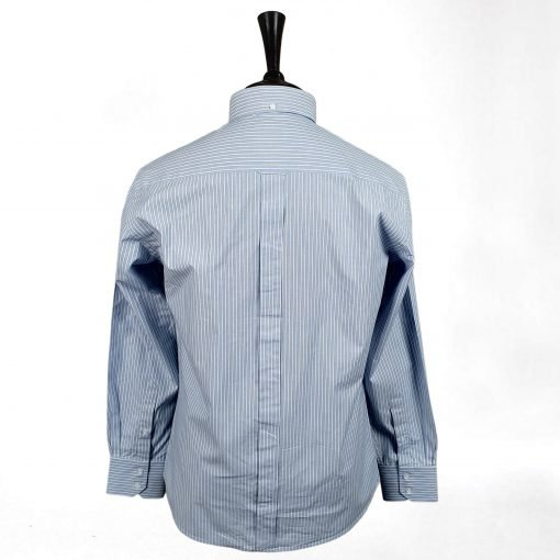 Washed Out Cotton Stripes Long Sleeves Shirt