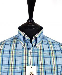 Sky Neoin Check Short Sleeves Shirt