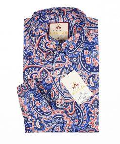 Blue Paisley Long Sleeves Shirt