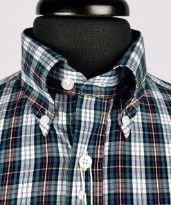 Sea Green Madras Check short Sleeves Shirt